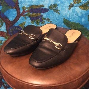 Sz 6 Merona Black Mule Loafers